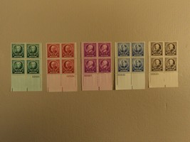 USPS Scott 869-73 American Educators Lot Of 5 1940 Plate Block 20 Stamps... - $86.16