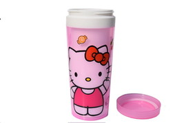Girls Pink Kitty Cup 12 Ounces with Led And Side Strap KT-CUP - $9.87