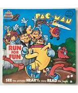 Pac-Man Run For Fun 7' Vinyl Record/Book, Kid Stuff-KSR 995, 1980 - $18.95
