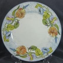 American Atelier Floral Garden 5088 Dinner Plates Porcelain Blue Rim - $21.95