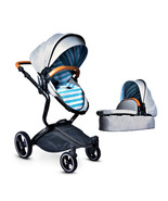 Luxury Baby Stroller 2 in 1 High View Prams For Newborns Folding Baby Ca... - $509.00