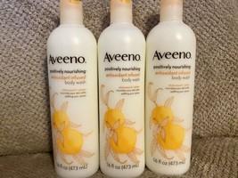 Aveeno 16 Oz Positively Nourishing Antioxidant White Peach Ginger Body W... - $34.99