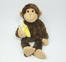 "14 "" GUND Mambo le Singe Avec / Banane Marron Animal en Peluche Jouet #031040 - $32.53"