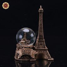 WR Paris Snow Globe Eiffel Tower Love Desktop Light Ball Decorating Ideas 8*5*12 - $21.56
