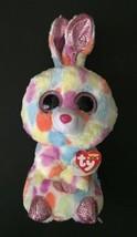 Ty Beanie Boos Bloomy Bunny Rabbit Plush Stuffed Animals Big Eyes Sparkl... - $14.84