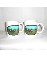 Vintage Ralph Lauren Polo Sport Mugs Cups Horses Equestrian Set of 2 Vin... - $19.79