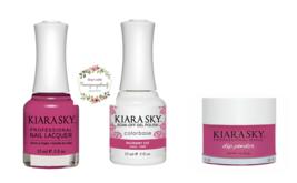 Kiara Sky Trio Set Gel 0.5 oz & Lacquer 0.5 oz & Dip 1 oz 540 Razzberry ... - $26.99