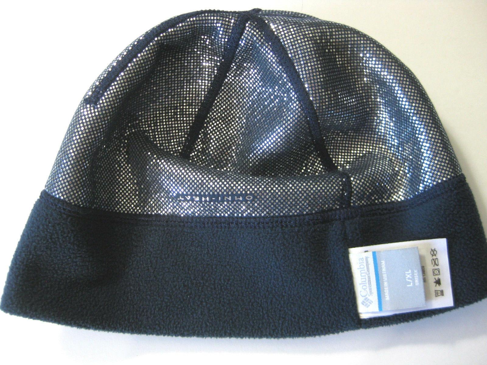 678e41dbc6c84 Regis Columbia Beanie Hat Navy Omni-Heat Very Warm Unisex L XL