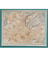 "1934 MAP 6 x 8"" (15 x 20 cm) - SPAIN Granada & Seville City Plans - $21.60"
