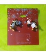 Penguin Christmas Earrings - $6.00