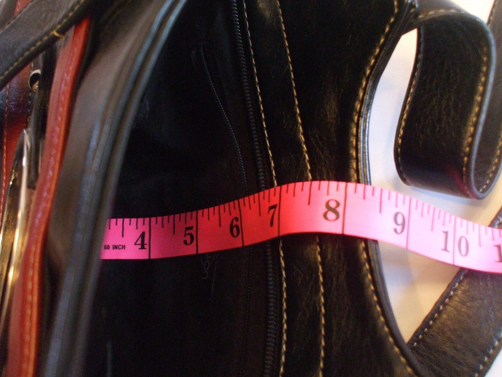D Fusion Black Leather Purse