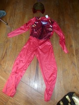 boys ironman costume.  jumpsuit and mask. size 7/8 red and gold - $5.99