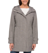NEW Kirkland Signature Ladies' Light Grey Trench Rain Coat Hooded Jacket Large image 2