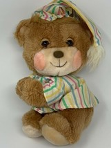 Vtg Fisher Price Plush Teddy Beddy Bear 1985 Stuffed Animal in Nightcap ... - $22.76