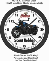 2019 INDIAN SCOUT BOBBER MOTORCYCLE WALL CLOCK-HARLEY DAVIDSON, BMW, TRI... - $28.70+