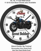 2019 INDIAN SCOUT BOBBER MOTORCYCLE WALL CLOCK-HARLEY DAVIDSON, BMW, TRI... - £22.24 GBP+