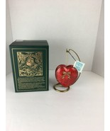 Mostowski Glass Ornament Red Heart Box with Stand Handcrafted by Komozja... - $98.99