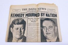 ORIGINAL Vintage Nov 23 1963 Death of JFK McKeesport PA Daily News Newsp... - $59.39