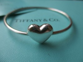 100% Genuine Tiffany & Co puff heart bangle - sterling silver - $157.58