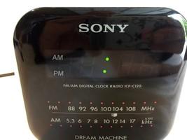 Sony Dream Machine ICF-C120 AM FM Alarm Clock Radio Retro Cube Tested Wo... - $19.24