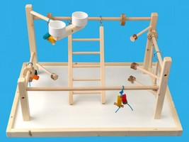 bird play gym with 20x30 base,parrot gym for multiple birds-hand made-gy... - £55.56 GBP