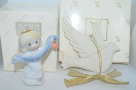 Avon Precious Moments Peace On Earth Angel Ornament 1998 Touched by an A... - $15.20