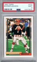 Boomer Esiason Cincinnati Bengals 1992 Topps #722 PSA 9 Mint POP 1 - TWO... - $19.95