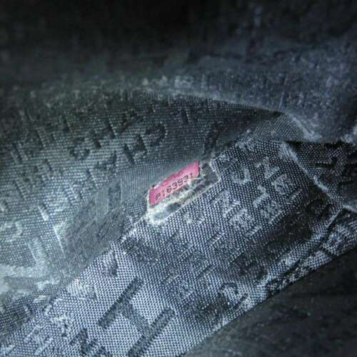 CHANEL Icon Chain Shoulder Bag Leather Knit Black Multi Color CC Logo Authentic image 12