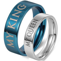 coi Jewelry Tungsten Carbide King Queen Wedding Band Ring-458 - $69.99