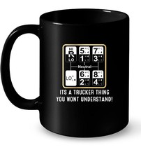 Trucker Truck Driver Gear Shift Pattern Ceramic Mug - $13.99+