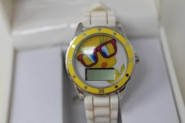 Accutime Digital Watch Youth Tweety Bird Looney Tunes White Rubber - $17.67