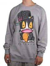 NeffMau5 Deadmau5 Meow Cat Heather Gray Crew Neck Sweatshirt NWT image 2