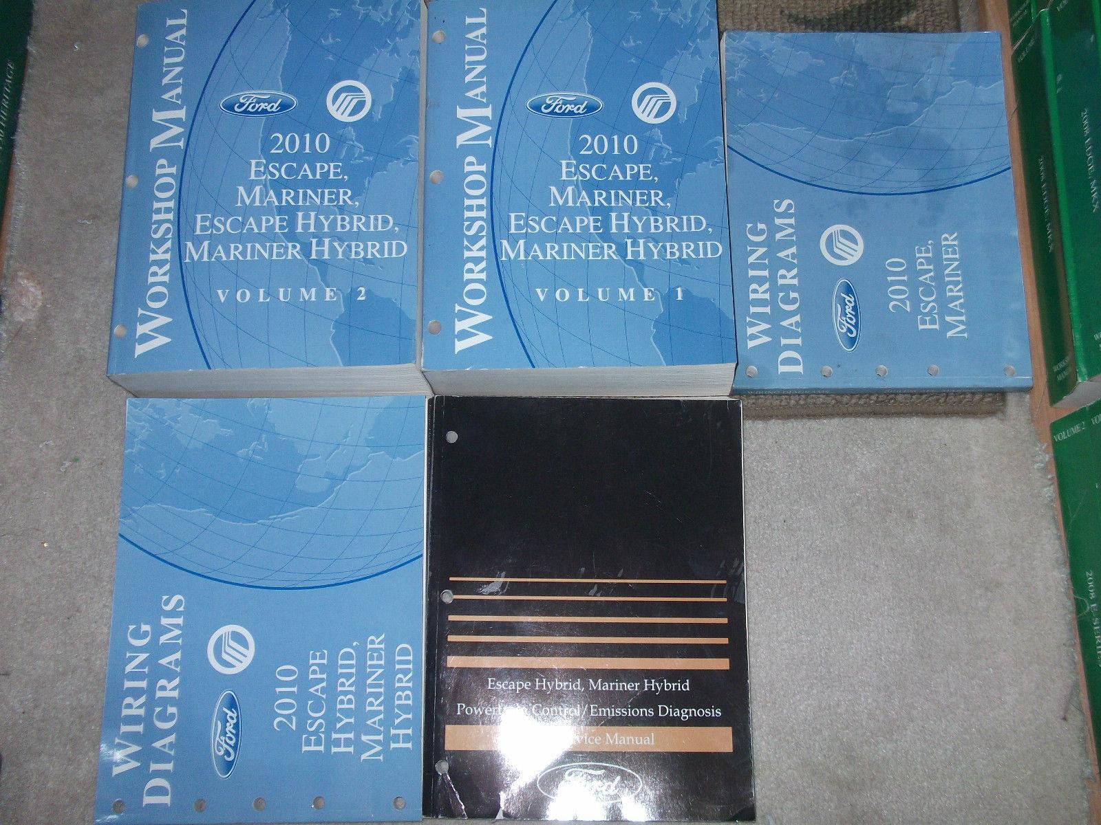 2010 Ford Escape Mercury Mariner & Hybrid Service Shop Repair Manual SET OEM