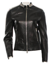 Michael Kors Pyramid Stud Leather Jacket sz 2 $4295 - $264.00