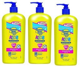 3 x Banana Boat Sunscreen Kids Family Size Sunscreen Lotion SPF 50, 12 oz - - $21.77