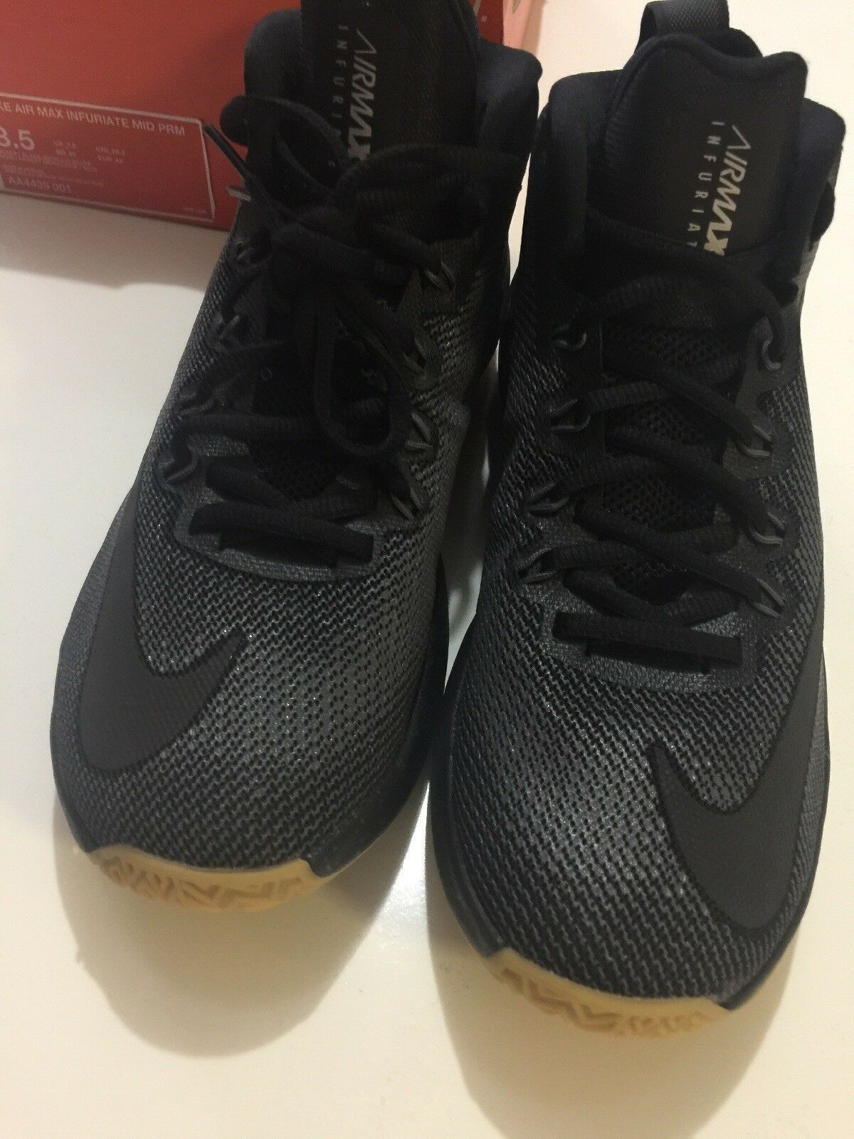 NIKE AIR MAX INFURIATE MID PRM MENS SHOES AA4439 001 Size 8.5 WITH BOX No Top image 2
