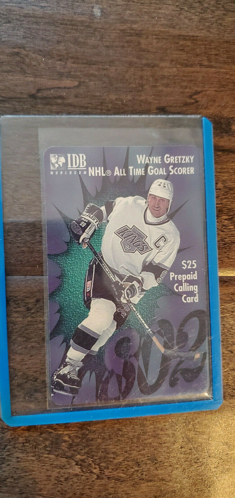 Primary image for 1994 IDB WAYNE GRETZKY NHL ALL TIME GOAL SCORER 802 $25 PHONE CARD KINGS OILERS
