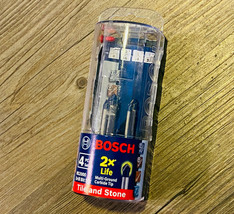 Bosch NS2000 Carbide Tipped Drill Bit Set for Drilling Natural Stone - $16.92