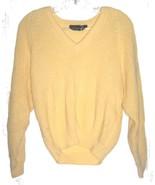 Gotham Light Yellow Ribbed Sweater 100% Acrylic Sweater Size L - $14.24