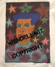 "Original 8x10"" Oil Pastel Gilbert Magu Lujan 1999 Drawing Art on Board image 2"