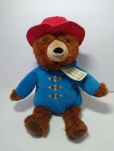 """Kohls Cares Paddington Bear 14"""" Laying Plush Red Hat Blue Jacket Stuffed... - $10.88"""