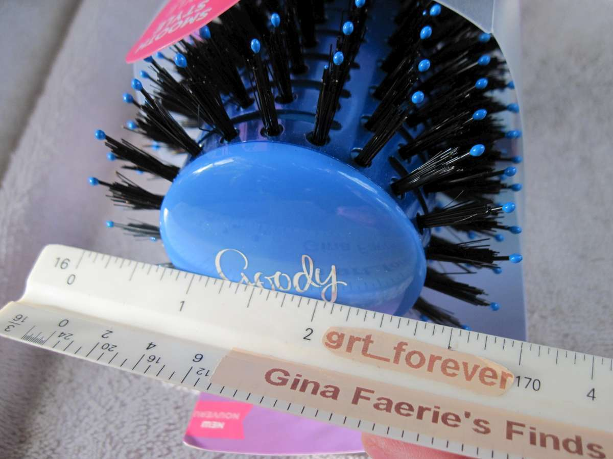 Goody Straight Talk Smooth Style Shine Hair Brush Boar Bristles Ceramic Barrel