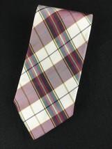 Giorgio Armani Cravatte Men's Plaid Tie 100% Silk Made in Italy Red Green - $24.99