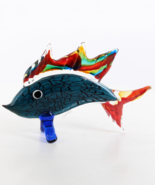 Murano Glass Figurine, Marlin Glass Sculpture, Venetian Style Glass, Bea... - $149.00