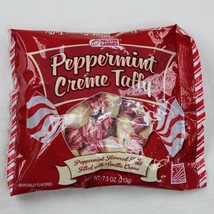 Peppermint Creme Taffy Melster Candy Vanilla Filled Creme 7.5 oz Bag Ex ... - $2.74