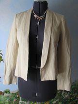 Vince Rustic Linen Women Beige Blazer Suit Jacket SZ 6 NWT $385 - $155.92