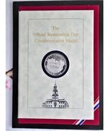1976 US Bicentennial Day Sterling Silver Medal Presentation Book Frankli... - $45.00