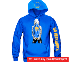 "Marilyn Monroe Golden State Warriors Hoodie ""3 Prints"" Sports Clothing - $45.00"