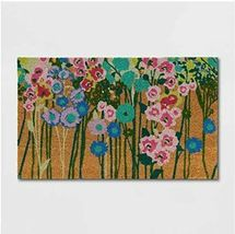 """1'6"""" x 2'6"""" Floral Vacation Tropical Rectangle Shape Door Mat Green Opalhouse  image 3"""