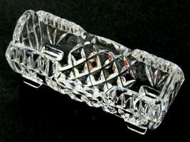 Vintage Crystal Glass Diamond Look Pattern Horizontal Toothpick Holder  - $21.77